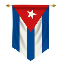 Cuba pennant vector