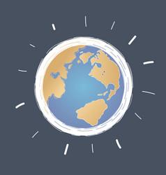 earth globe on dark vector image