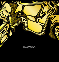 elegant gold waves texture for creative design vector image