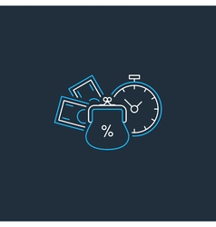 Financial investments concept money insurance icon vector