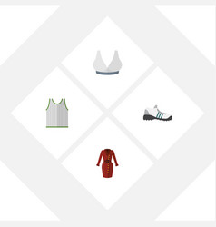 flat icon dress set of sneakers clothes vector image