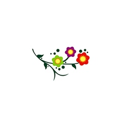 Flower colorful abstract decorative logo vector