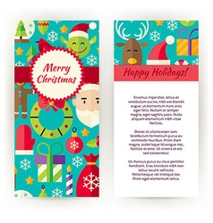 Flyer Template of Merry Christmas Objects and vector image