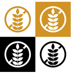 gluten free symbol icon or label set vector image