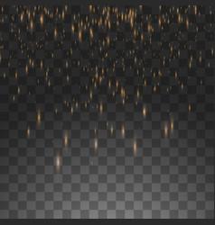 golden rain isolated on a vector image