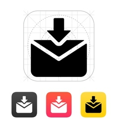 Incoming mails icon vector image
