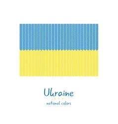Knitting Ukraine flag Stylish background vector image