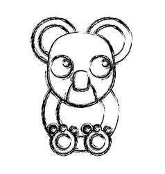koala animal cartoon vector image