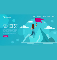landing or web page design template business vector image