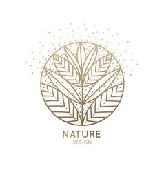 Logo flower nine petals vector