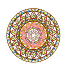 Mandala decorative round lace style vintage vector