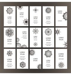 Mandalas business card vector image
