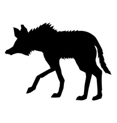 maned wolf side view vector image