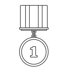medal icon thin line vector image