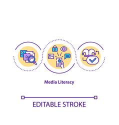 Media literacy concept icon vector