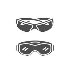 Military eyeglasses flat paintball vector