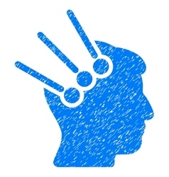 Neural Interface Connectors Grainy Texture Icon vector