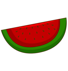 One piece watermelon on white background vector
