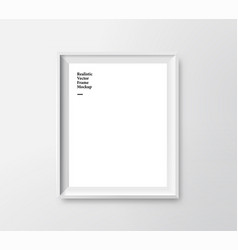 printrealistic minimalistic white photo vector image