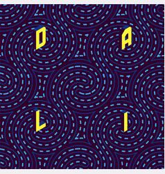 Psychedelic hypnotic swirl dali tehnique seamless vector