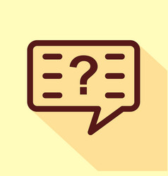 question icon isolated on white background vector image