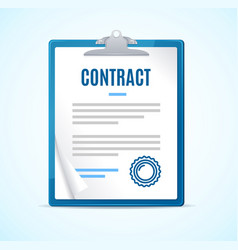 realistic detailed 3d clipboard contract concept vector image