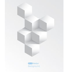 Realistic white geometrical background with vector image