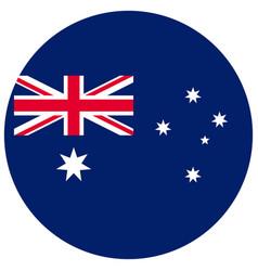 Round australian national flag government symbol vector