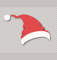 santa hat isolated on background for party vector image
