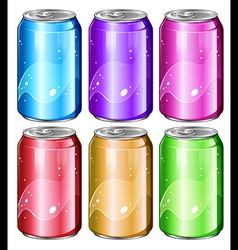 Set of soda cans vector image