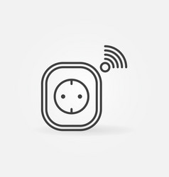 smart socket concept icon in thin line vector image