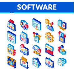 Software testing and analysis icons set vector