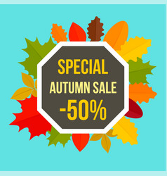 special colorful autumn sale background flat vector image