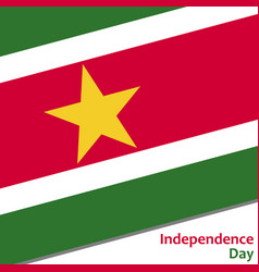 Surinam independence day vector