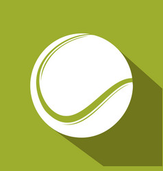 tennis flat icon vector image