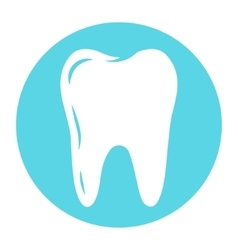 tooth logo for dental company vector image