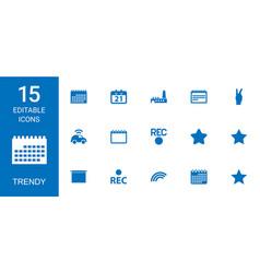 Trendy icons vector