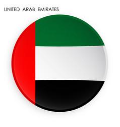 United arab emirates flag icon in modern vector