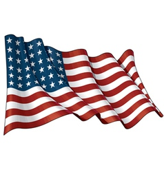 US Flag WWI WWII 48 stars vector