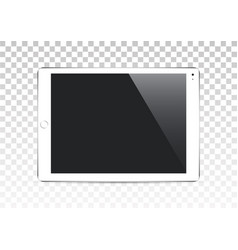 white tablet computer isolated on vector image