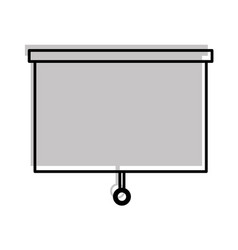 Window blind isolated icon vector