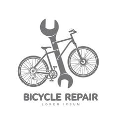bicycle repair workshop logo template vector image vector image