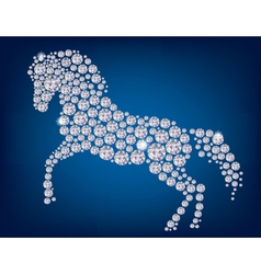 Horse of diamonds vector image vector image