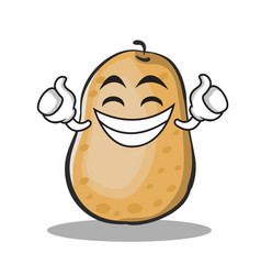 proud potato character cartoon style vector image vector image