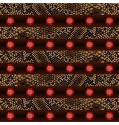 Texture seamless endless pattern Crocodile and vector image