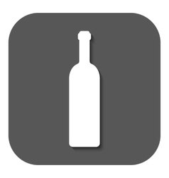 The wine bottle icon Bottle symbol Flat vector image vector image