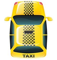 A topview of a yellow taxi cab vector image