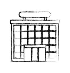 Airport terminal building icon vector