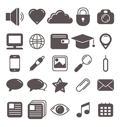 icons set for web vector image vector image