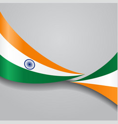 indian wavy flag vector image